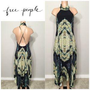 Free People halter maxi dress. NWOT